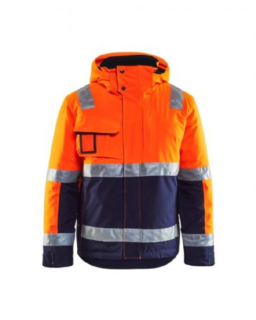 Blaklader 4870 Winter Jacket High Vis (Orange/Navy Blue)